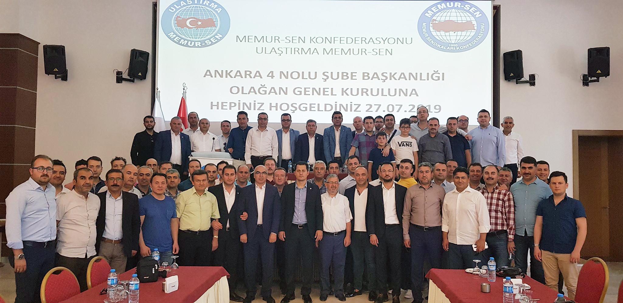 Ankara 4 No'lu şube Genel Kurulu yapıldı