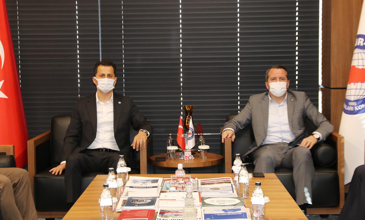 Genel Başkan Çalışkan'dan Ali Yalçın'a teşekkür ziyareti