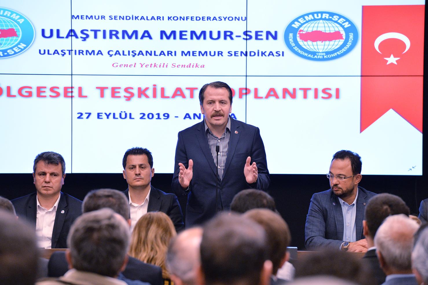 Yalçın, Ulaştırma Memur-Sen'in Ankara Bölgesel Teşkilat Toplantısına katıldı