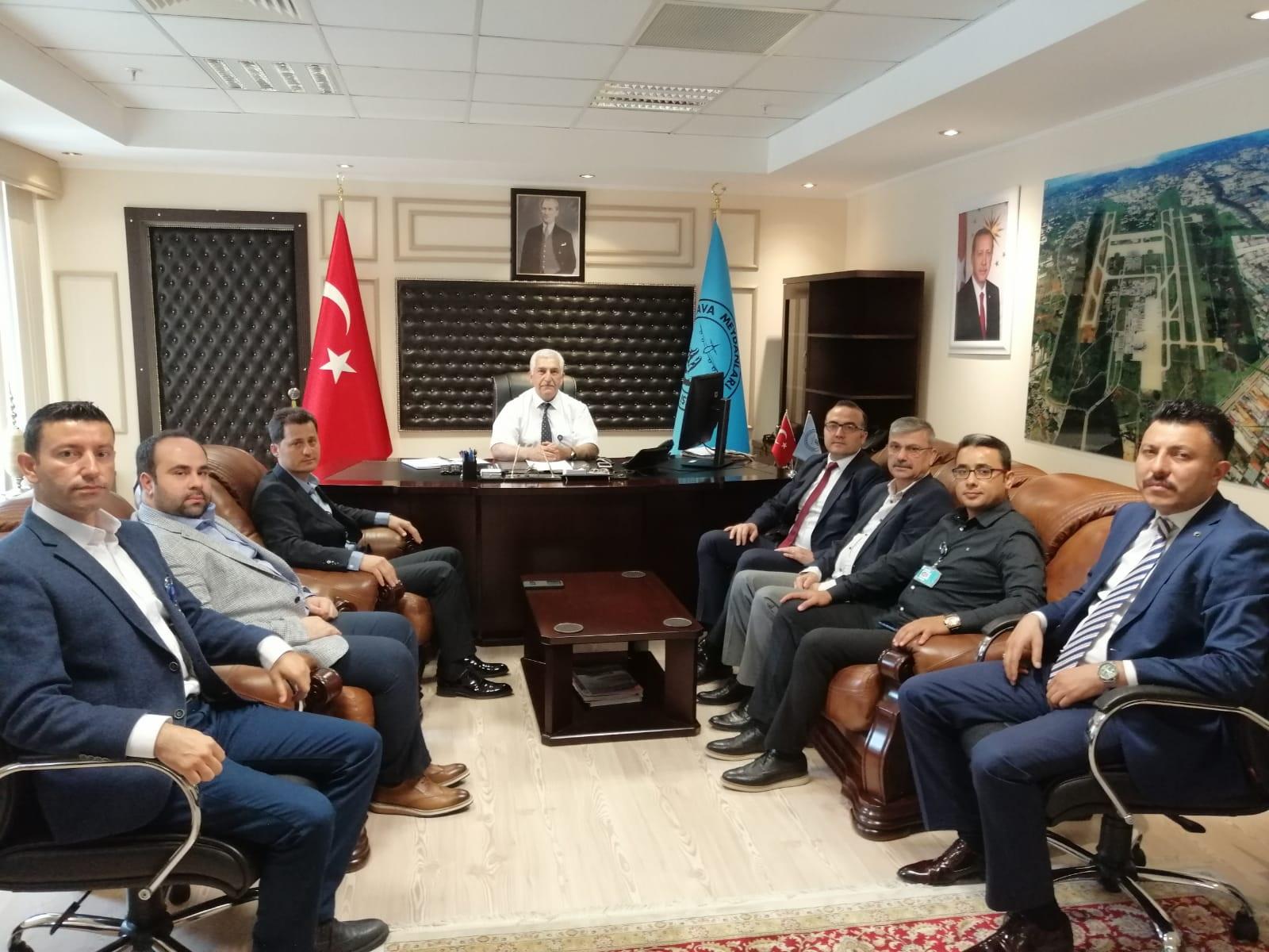 Ulaştırma Memur-Sen'den Antalya Havalimanına geçmiş olsun ziyareti