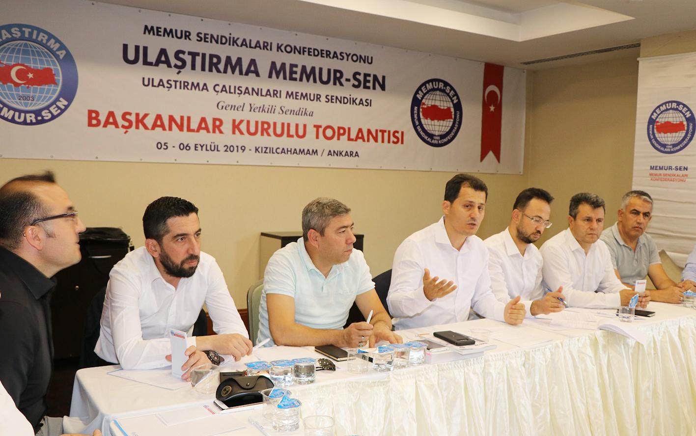 Ulaştırma Memur-Sen Başkanlar Kurulu Toplantısı Ankara'da yapıldı