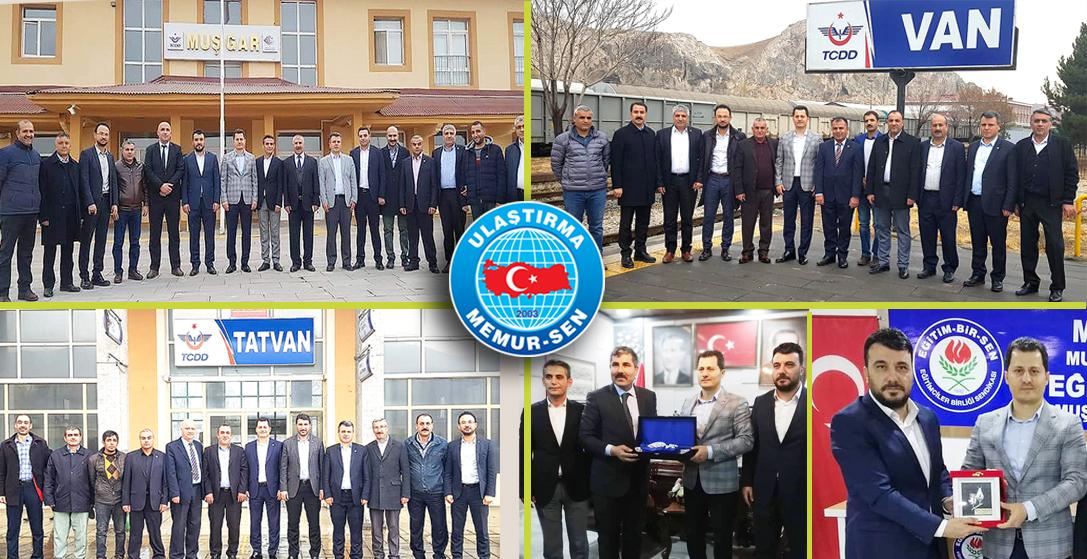 Genel Başkan Çalışkan, Muş, Tatvan ve Van'da ziyaretlerde bulundu