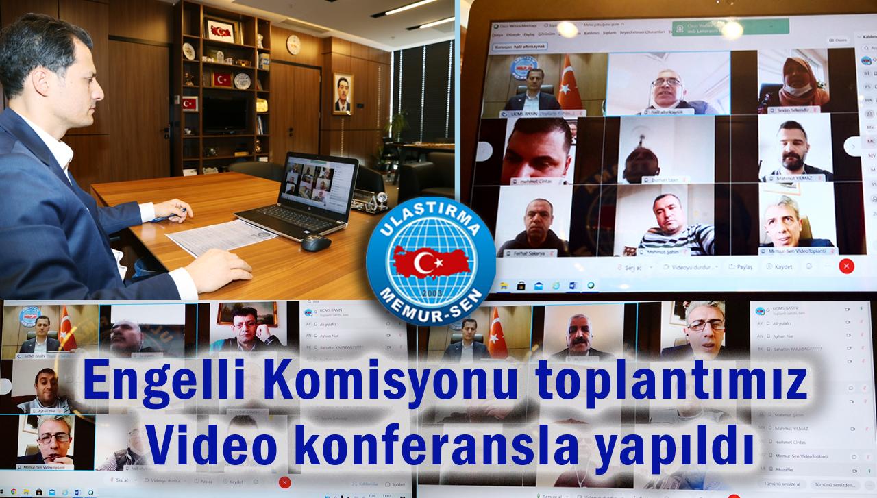 Engelli Komisyonu toplantımız video konferansla yapıldı