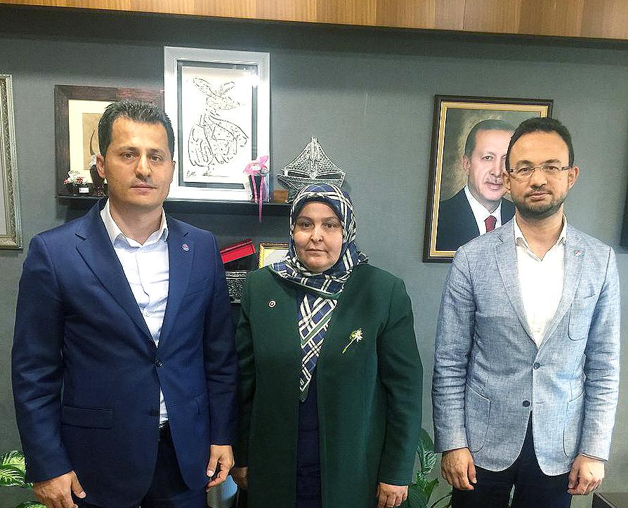 Genel Başkan Çalışkan, Habibe Öçal'ı ziyaret etti