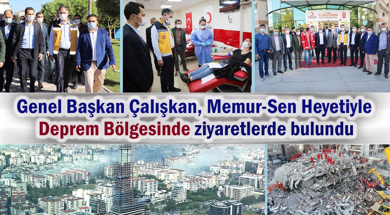 Genel Başkan Çalışkan, Memur-Sen Heyetiyle Deprem Bölgesinde ziyaretlerde bulundu