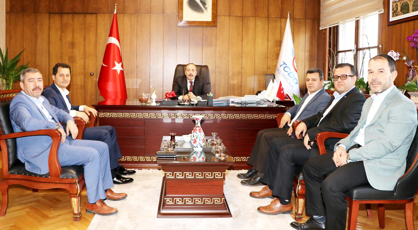 Genel Başkan Çalışkan, TCDD Taşımacılık A.Ş. Genel Müdürü Kamuran Yazıcı'yı ziyaret etti