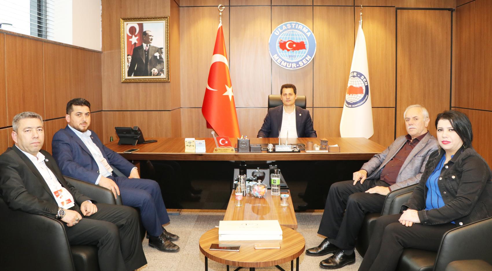 Karlıer ve Özdemir'den Genel Başkan Çalışkan'a Tebrik Ziyareti