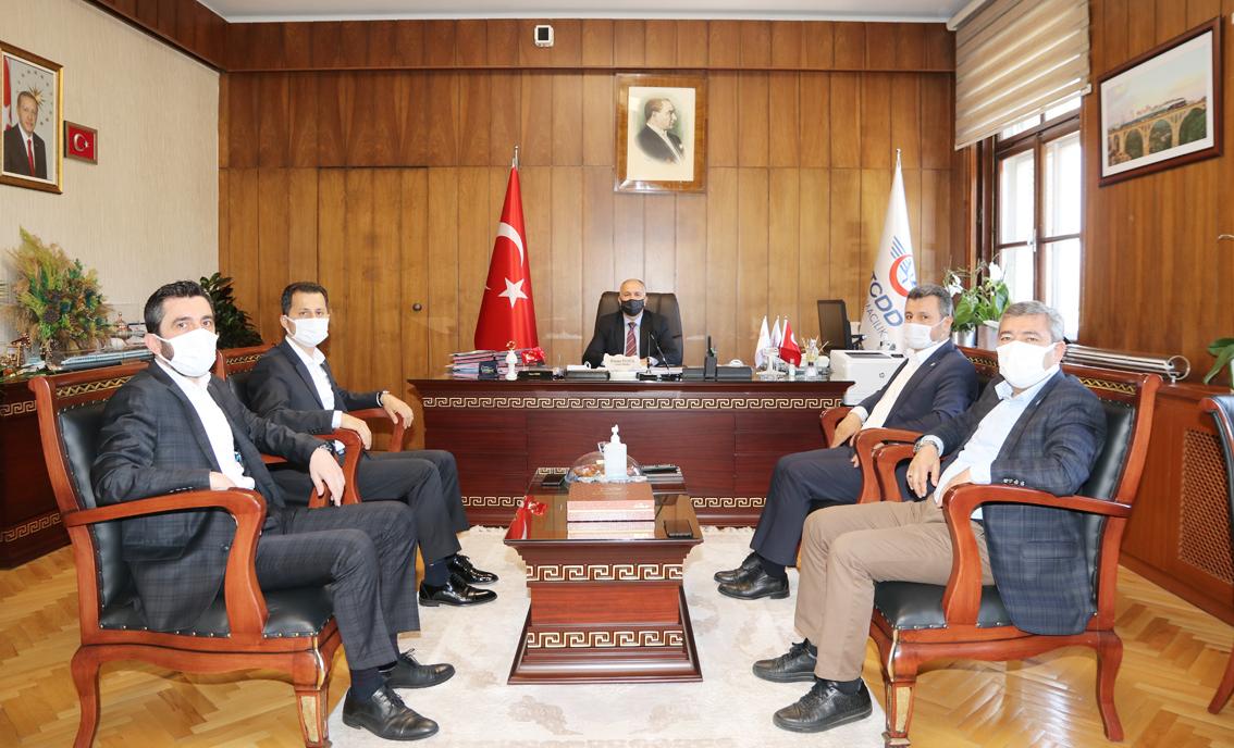 Genel Başkan Çalışkan, Genel Müdür Pezük'ü ziyaret etti