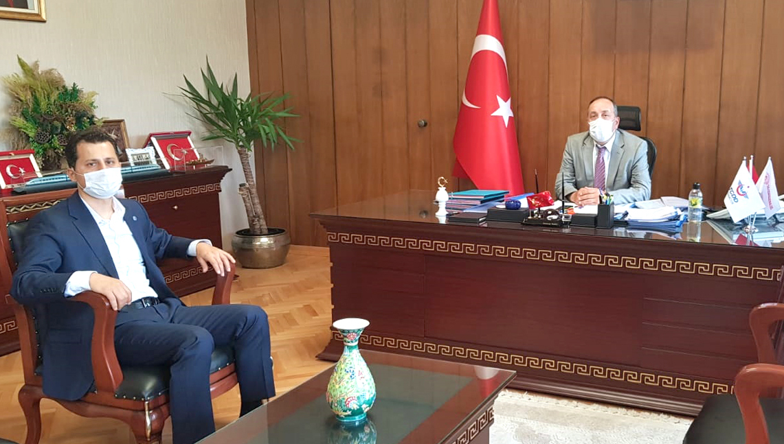 Genel Başkan Çalışkan, Genel Müdür Yazıcı'yı ziyaret etti