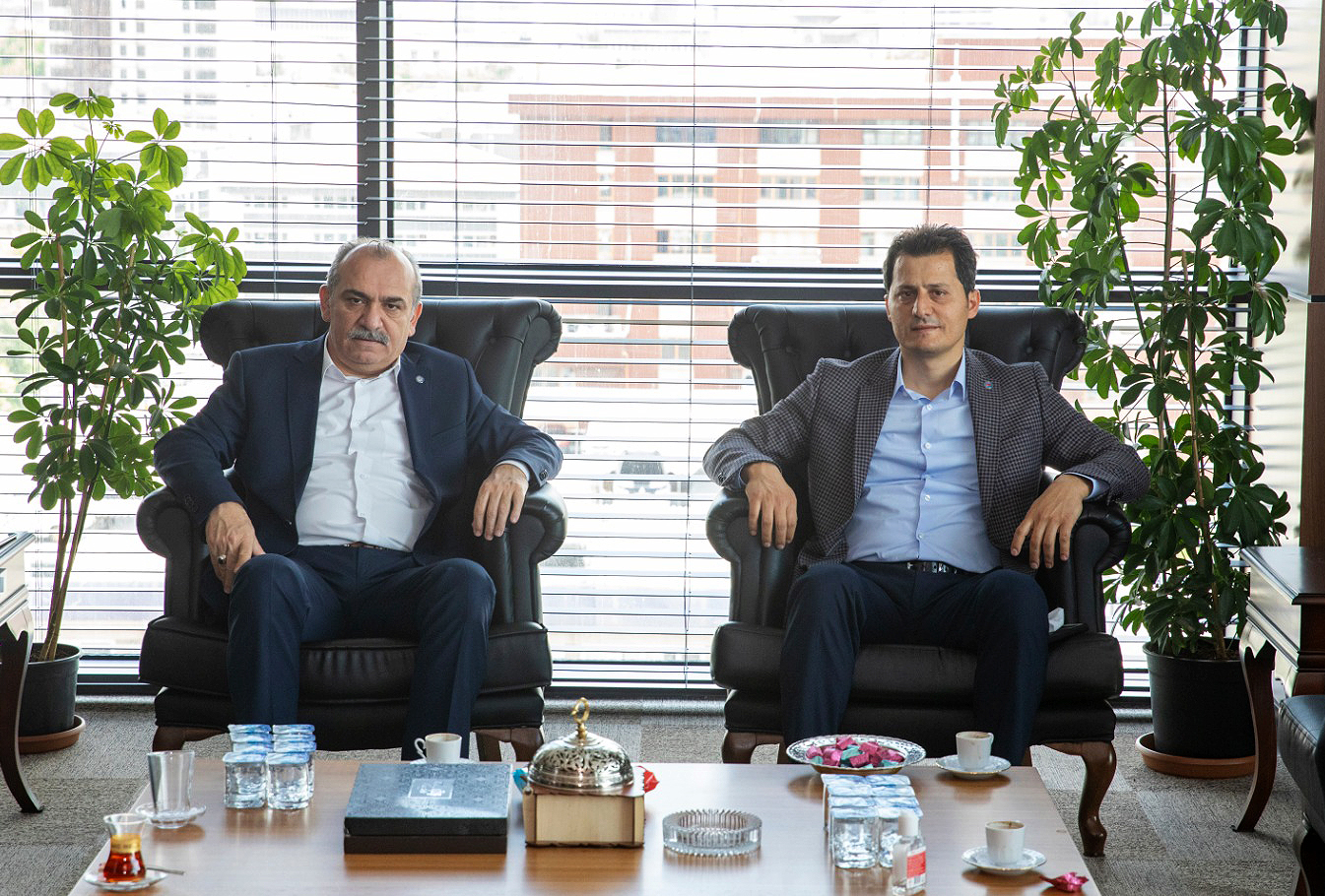Genel Başkan Çalışkan'dan Yazgan'a tebrik ziyareti