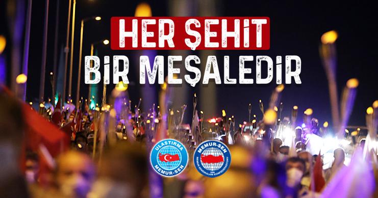 """""""15 Temmuz Çelikleşmiş Millet İradesinin Şanlı Direnişidir"""""""