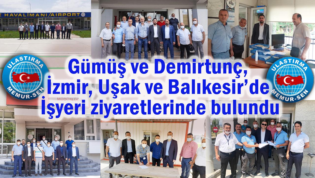 Gümüş ve Demirtunç, İzmir, Uşak ve Balıkesir'de işyeri ziyaretlerinde bulundu