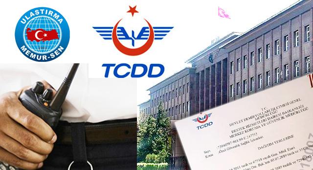 TCDD Güvenlik personelinin sağlık sebebiyle görev değişimi sorununa çözüm