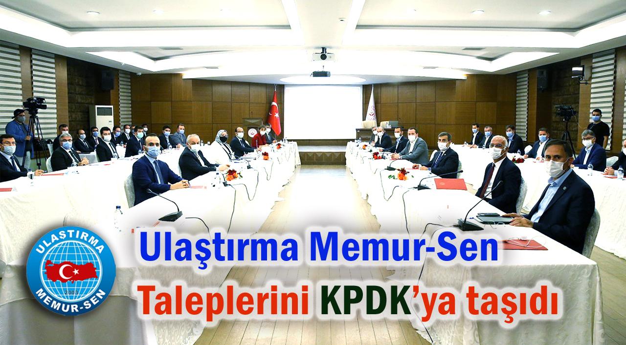 Ulaştırma Memur-Sen, Taleplerini KPDK'ya Taşıdı