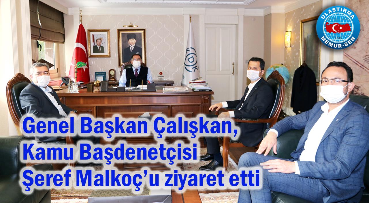 Genel Başkan Çalışkan, Kamu Başdenetçisi Şeref Malkoç'u ziyaret etti