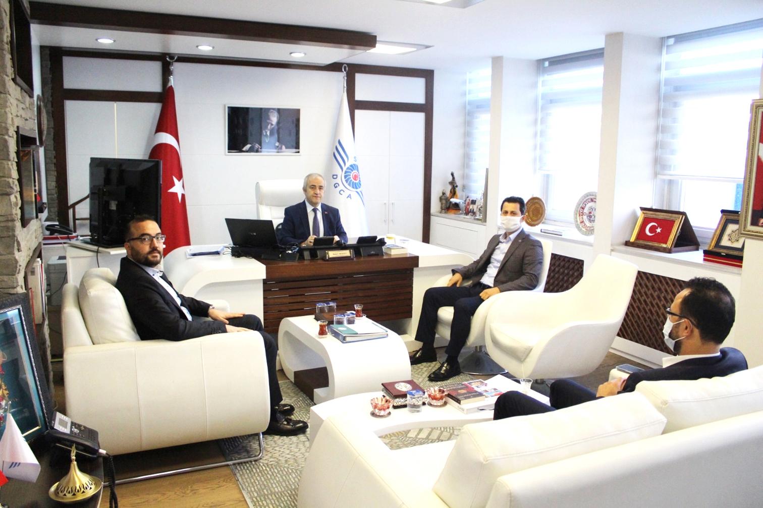 Genel Başkan Çalışkan, SHGM Genel Müdürü Kesici'yi ziyaret etti