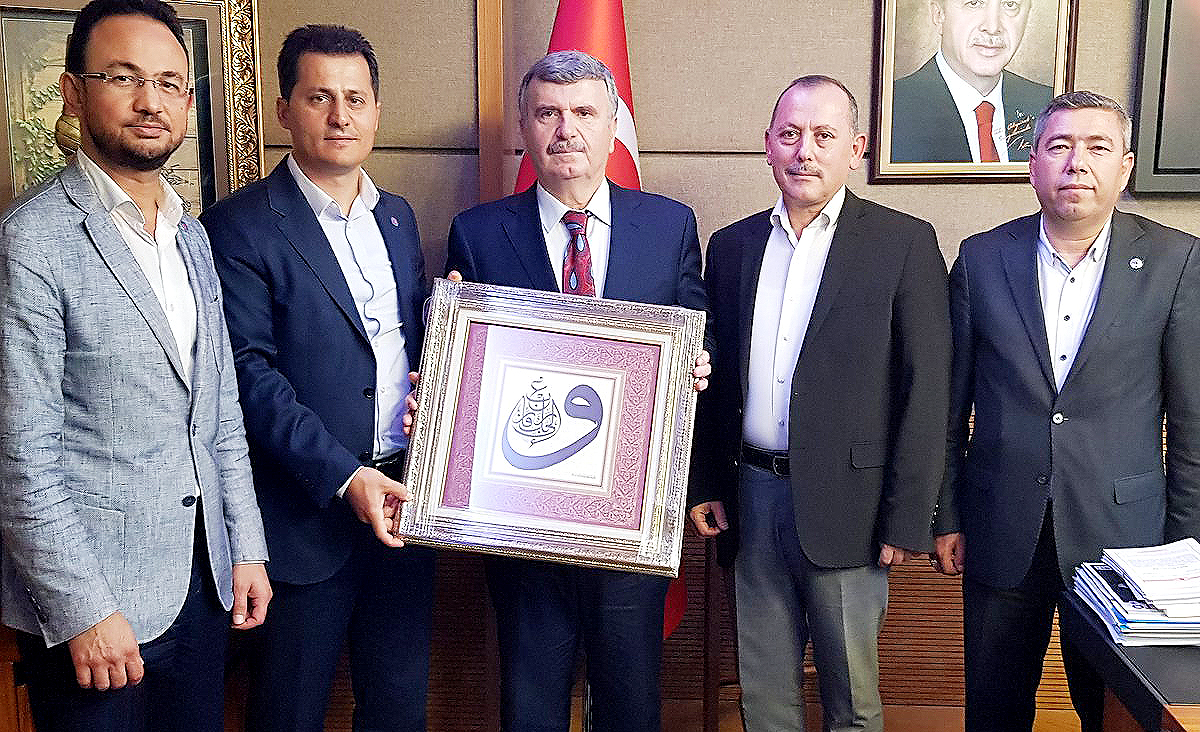 Genel Başkan Kenan Çalışkan, Konya Milletvekili Tahir Akyürek'i ziyaret etti