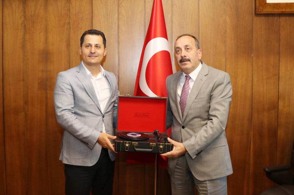 Genel Başkan Çalışkan'dan, TCDD Taşımacılık A.Ş. Genel Müdürü Kamuran Yazıcı'ya tebrik ziyareti