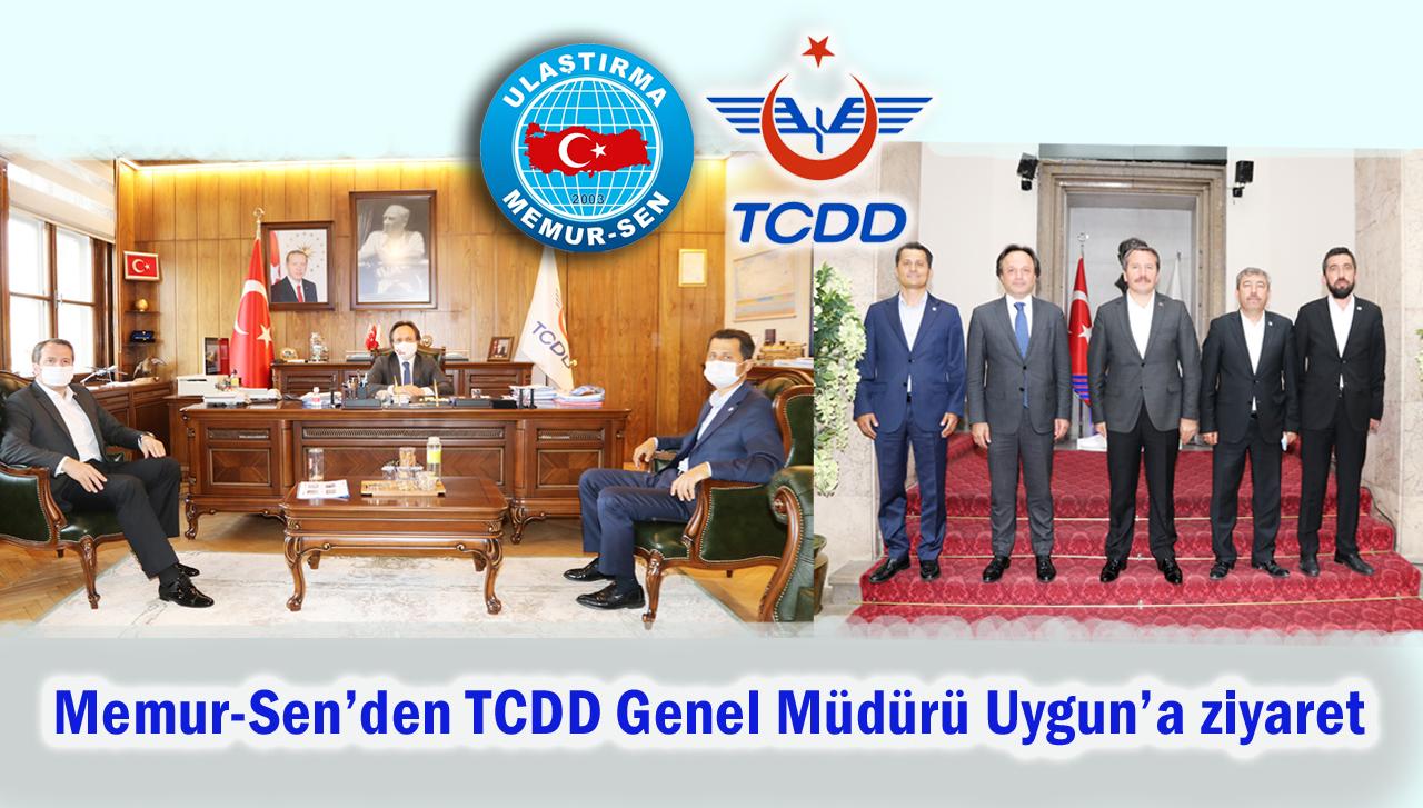 Memur-Sen'den TCDD Genel Müdürü Uygun'a ziyaret