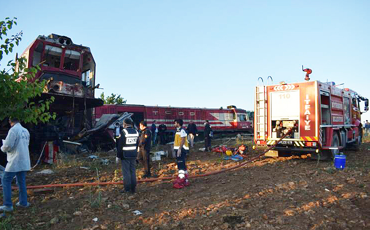 Malatya'da elim tren kazası
