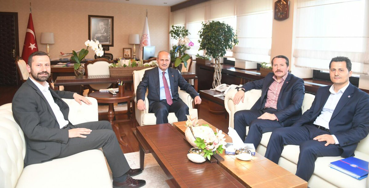 Çalışkan'dan, Ulaştırma ve Altyapı Bakanı Turhan'a ziyaret