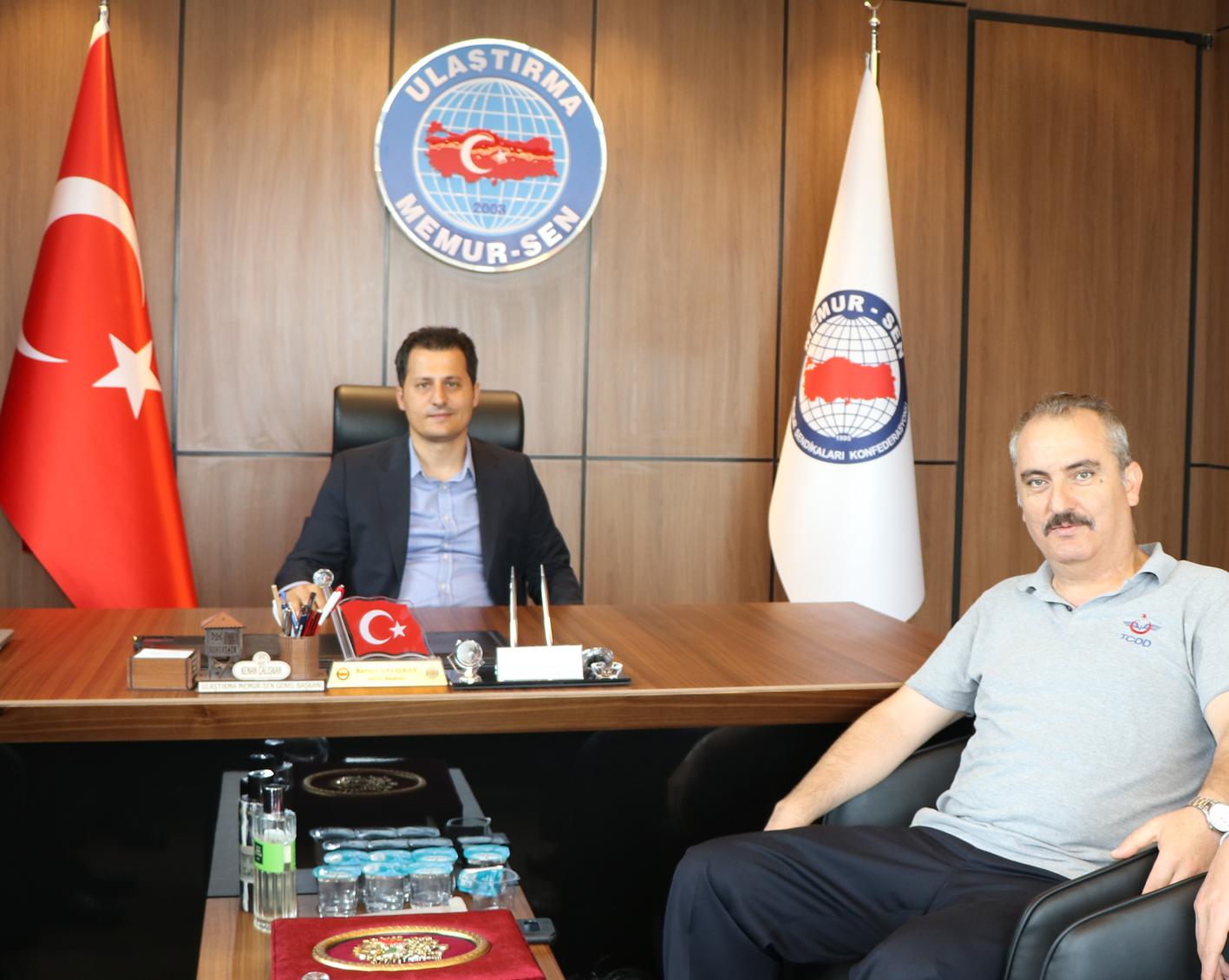 Yakup Çınar, Genel Başkan Kenan Çalışkan'ı ziyaret etti